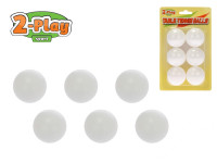 Míčky na stolní tenis 2-Play 6 ks