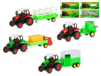Traktor s vlečkou kov 18 cm 1:43 zpětný chod - mix variant či barev