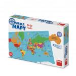 Puzzle 82 dílků mapy svět