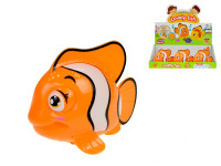 Ryba klaun 10 cm plavací ve vodě na klíček