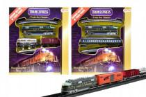 Vlak s kolejemi plast délka dráhy 360cm na baterie se světlem v krabici 30x34cm - mix variant či barev