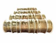 Stuha dekorační na cívce mix zlatá