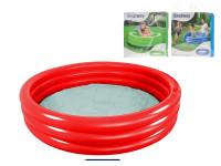 Bazén nafukovací 122x25 cm 3 komory 140 L - mix barev