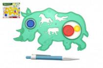 Inspiro zvířátko + pero plast 18cm - mix barev