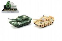 Tank plast/kov PB 16cm na zpětné natažení - mix barev