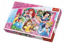 Puzzle Princezny koláž 100 dílků 41x27,5cm
