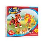 Pěnová 3D stavebnice - tygr a lev - VÝPRODEJ
