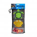 Spokey ZOO 1 Hračky pro potápění - želva, mušle, mořská panna