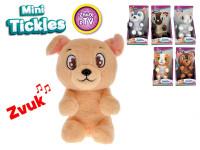 Mini Tickles plyšové zvířátko 16 cm na baterie se zvukem a smějící se - mix variant či barev