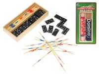 Domino 28 ks + mikado v dřevěné krabičce