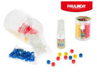 Paulinda Super Beads Jumbo 10x8 cm 210 ks s doplňky v dóze - mix barev