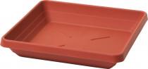 Plastia miska čtyřhranná Lotos - terakota 35x35