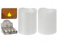 svíčka LED pr.5x6,5cm BÍ