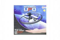 UFO létající prstenec s USB kabelem plast na baterie svítící - mix barev