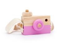 Foťák - dřevěná montessori hračka, růžová