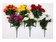 Květina CHRYZANTÉMA X13 13 květů mix 36cm - VÝPRODEJ