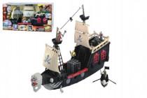 Pirátská loď plast 60cm na baterie se zvukem