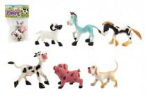 Zvířátka domácí farma plast 8-10cm