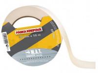 páska krepová 38mmx50m BÍ do 60 stupňů