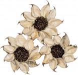 Dekorace - Cotton Petal Flower 6 cm - 3 ks