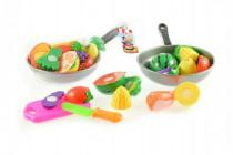 Krájecí ovoce + pánev s nádobím plast 30cm - mix variant či barev