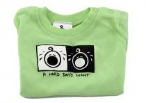 Dětské tričko Mayaka s krátkým rukávem A Hard Day´s Night - zelené Vhodné pro věk 6-12 měsíců - VÝPRODEJ
