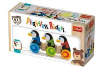Tučňáci na kolečkách dřevěné 3ks Wooden Toys 12m+