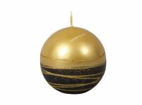 Svíčka LUMINA GOLD KOULE d8cm