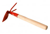 Okopávačka s nás. 27 cm - srdcová 2 hroty - oranžová