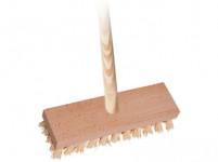 kartáč podl.22x6,5cm dřev., PP vlákno, s holí 140cm 4224/861
