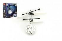 Vrtulníková koule barevná létající plast 13x11cm s USB kabelem na nabíjení