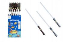 Meč svítící plast 72cm na baterie měnící zvuk dle pohybu se světlem - mix barev