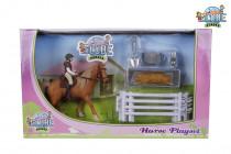 Hrací sada jezdkyně s koněm
