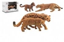 Zvířátka safari ZOO 12cm sada plast 2ks jaguár 2 druhy