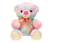 Medvěd plyšový 23 cm sedící s mašlí