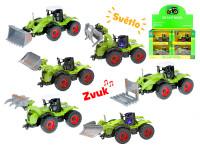 Traktor 1:54 kov na zpětný chod na baterie se světlem a zvukem - mix variant či barev
