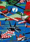 Balicí papír dětský 2mx70 cm, Letadla/Planes - modrý, DITIPO