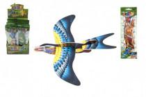 Letadlo házecí skládací pták pěna 18cm - mix barev