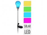 lampa solární ŽÁROVKA 4LED v.75cm - mix barev
