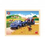 Puzzle dřevěné 20 dílků Tatra tahač