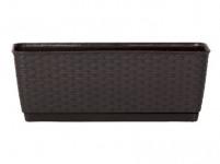 truhlík RATOLLA PW 49,2x17,2x17,4cm HN tm. (440U) závěs. s miskou