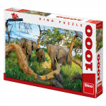 Sloni z Botswany 1000D