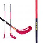 Spokey Avid II hokejka florbal červená rovná čepel