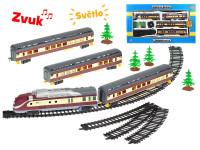 Vláček s vagóny 110 cm + dráha 194 cm na baterie se světlem a zvukem