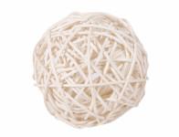 Koule aranžovací ratanová bílá 8cm