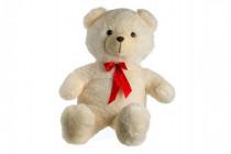 Medvěd plyš 100cm s mašlí béžový