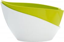Plastia květináč samozavlažovací Doppio - světle zelená + bílá 14 cm