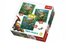 Puzzle 3v1 Svět Dinosaurů 20x19,5cm