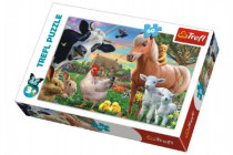 Puzzle Veselá Farma Zvířátka 33x22cm 60 dílků