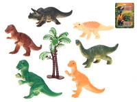 Dinosauři 8-9 cm 6 ks se stromem